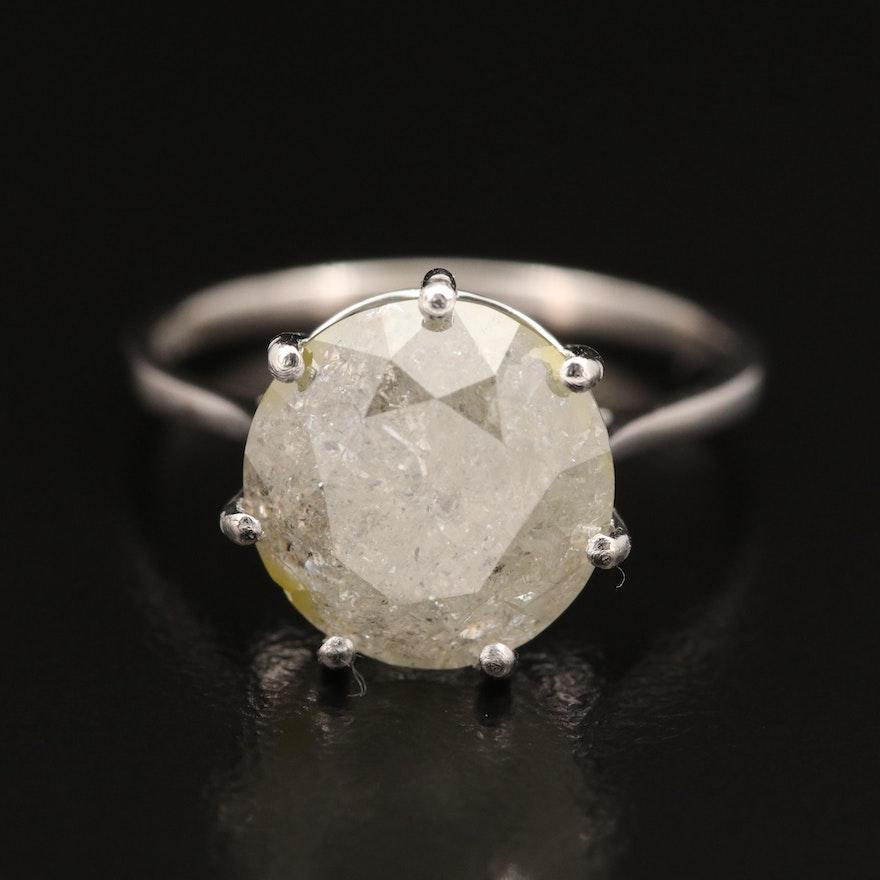 Platinum 5.34 CT Diamond Solitaire Ring