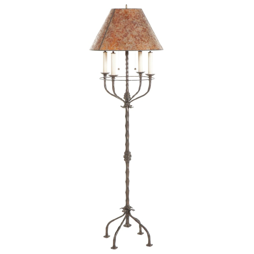 The Natural Light Co. Rustic Wrought Iron Floor Lamp, Contemporary