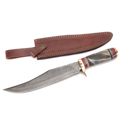 Fixed Blade Damascus Steel Hunting Knife