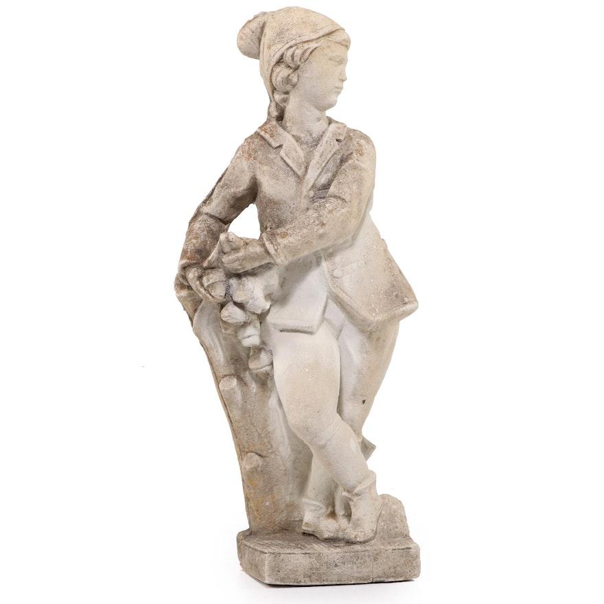 Cast Concrete Figural Garden Sculpture