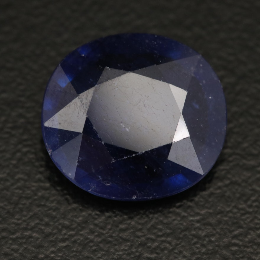 Loose Modified Oval Faceted Corundum