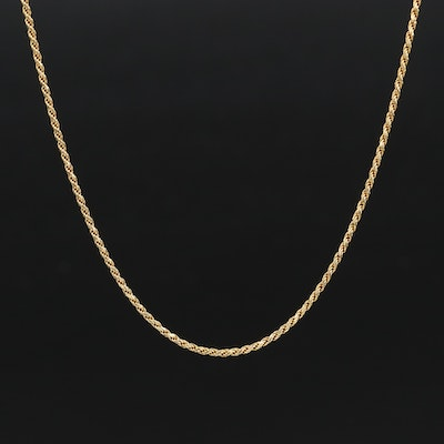Italian 18K Rope Chain Necklace