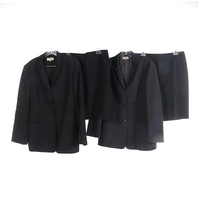 Calvin Klein Skirt Suits in Cotton and Wool