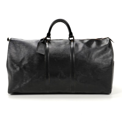 Louis Vuitton Keepall 60 in Black Epi Leather