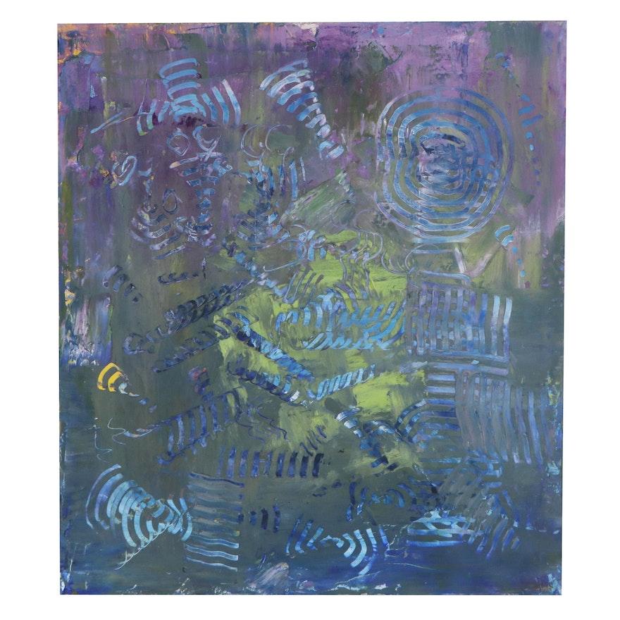 Elaine Neumann Non-Objective Abstract Oil Painting, 2020