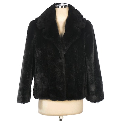Donna Salyers' Fabulous-Furs Jacket in Black Faux Fur