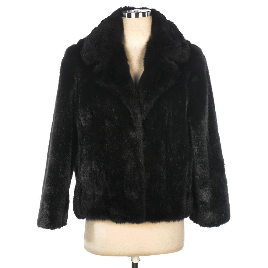 Donna Salyers' Fabulous-Furs Jacket in Black Faux Fur
