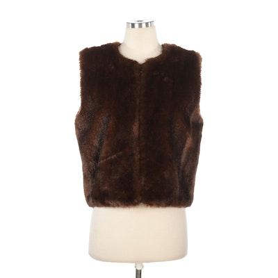 Donna Salyer Fabulous-Furs Faux Fur Vest