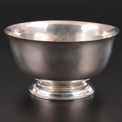 Lunt Sterling Silver Reproduction Paul Revere Bowl