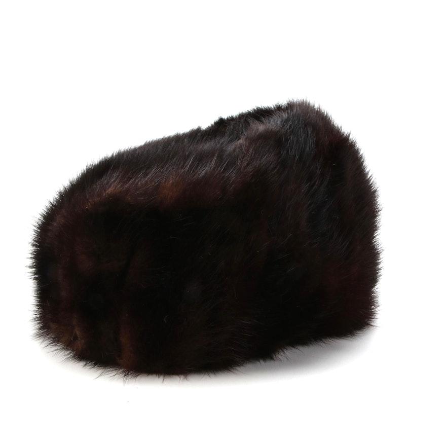Betmar Elegante Dark Brown Mink Fur Hat From Marshall Field & Company
