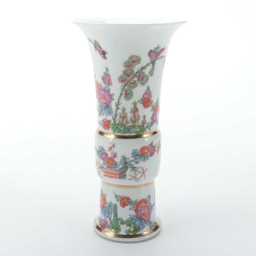 Haviland for Metropolitan Museum of Art Reproduction Meissen Porcelain Vase