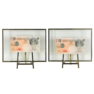 "Giclées after Banksy ""Di-Faced Tenner,"" 21st Century"