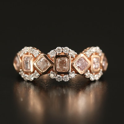 18K Rose Gold 1.30 CTW Diamond Ring
