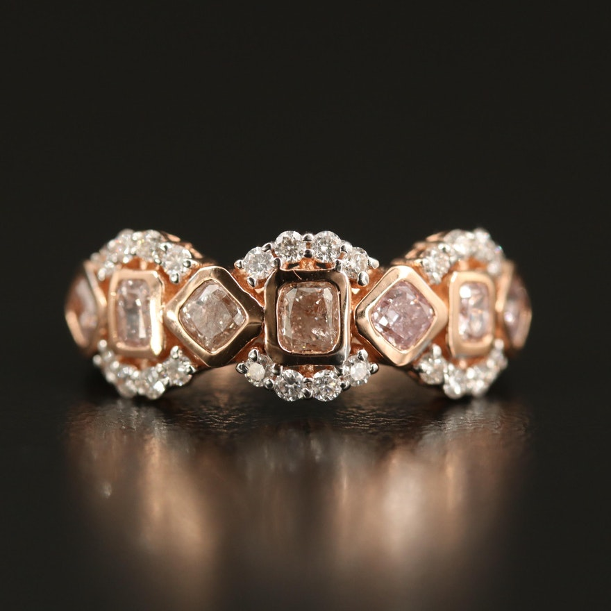 18K Rose Gold 1.30 CTW Diamond Ring