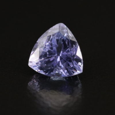 Loose 1.68 CT Trillion Faceted Tanzanite