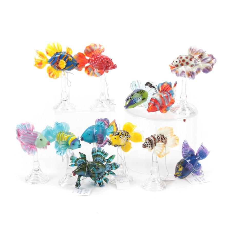 Pam Duggar Art Glass Tropical Fish