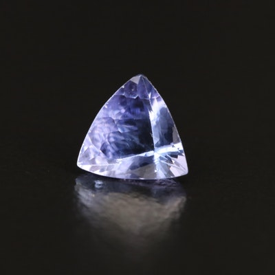 Loose 1.01 CT Trillion Faceted Tanzanite
