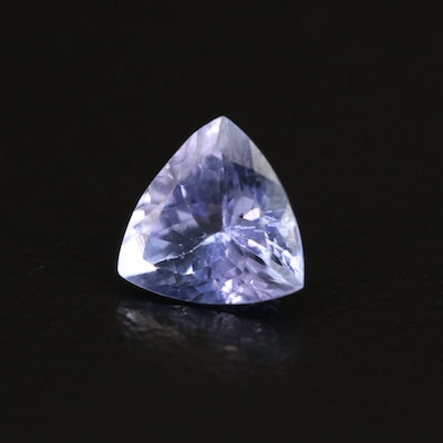 Loose 1.23 CT Trillion Faceted Tanzanite
