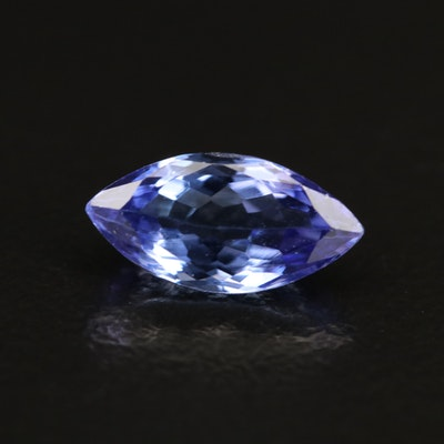 Loose 1.30 CT Marquise Faceted Tanzanite