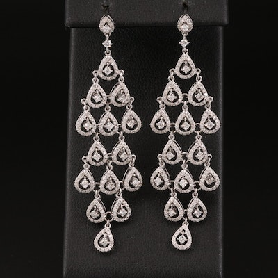 18K 1.66 CTW Diamond Chandelier Earrings