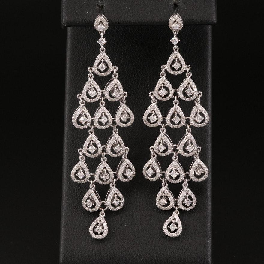 18K 1.66 CTW Diamond Chandelier Earrings