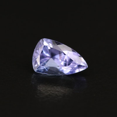 Loose 1.15 CT Modified Pear Faceted Tanzanite