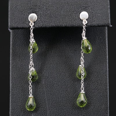14K Peridot Briolette Earrings