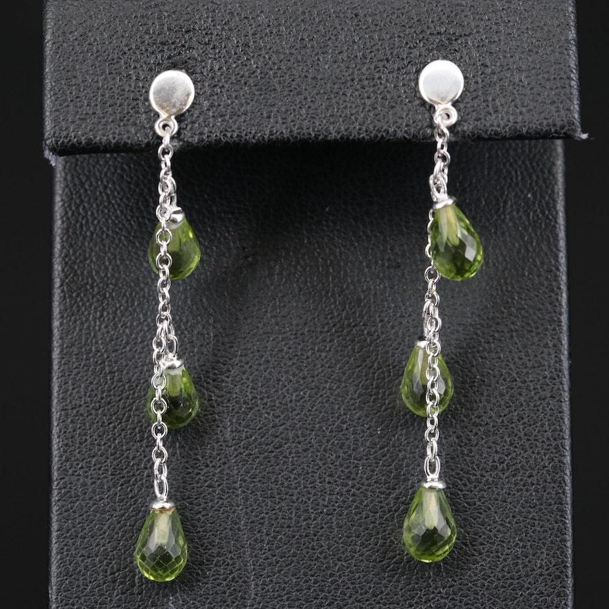 14K Peridot Briolette Earrings