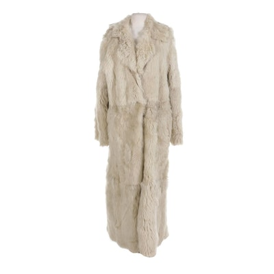 Reversible Sheepskin and Shearling Full-Length Coat