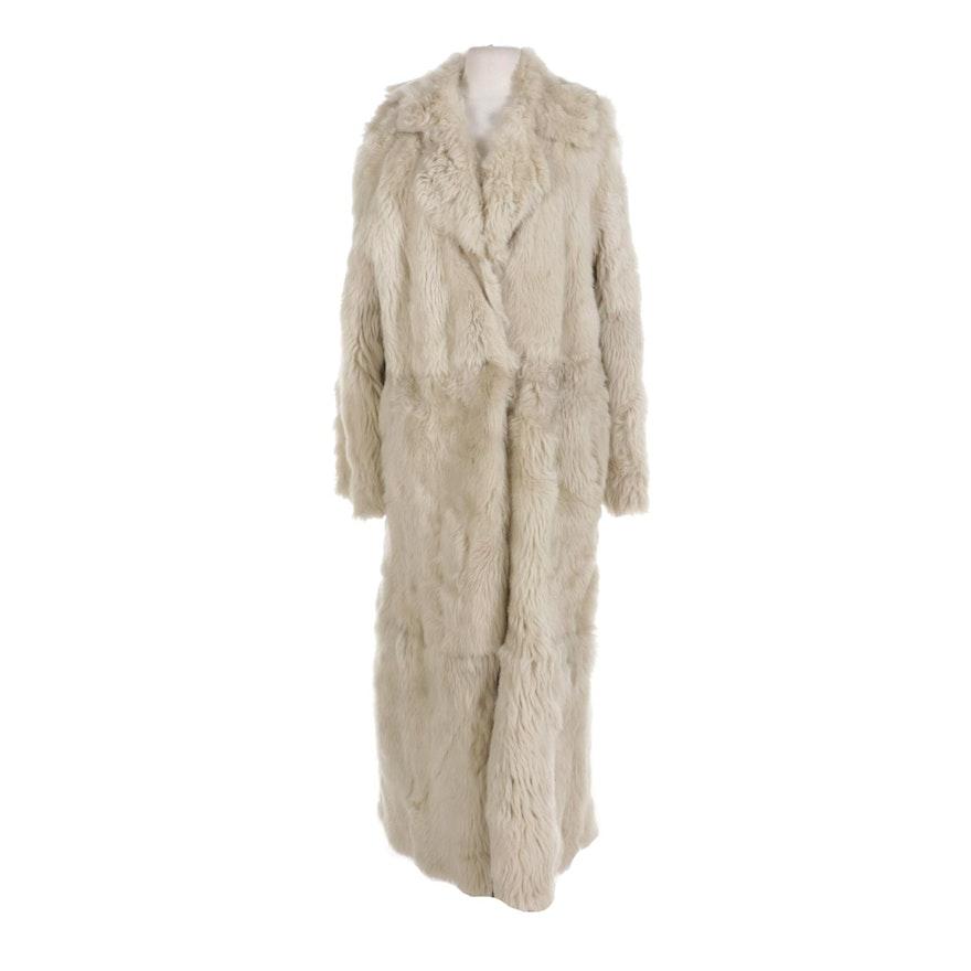 Reversible Sheepskin and Shearling Full-Length Coat