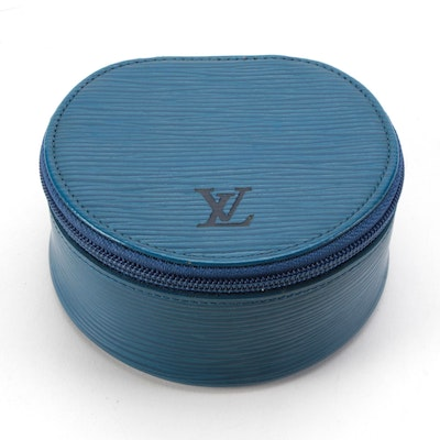 Louis Vuitton Écrin Bijoux 10 Jewelry Case in Toledo Blue Epi Leather