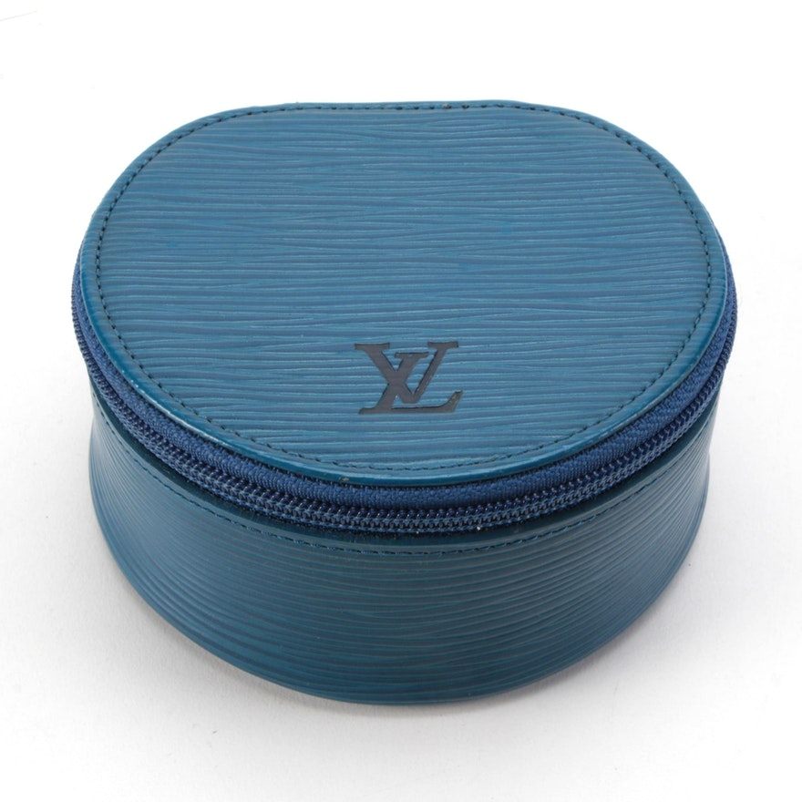Louis Vuitton Écrin Bijoux 10 Jewelry Case in Toledo Blue Epi Leather