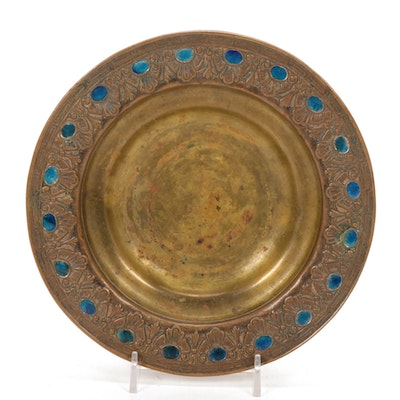 Art Nouveau Louis C. Tiffany Furnaces Enameled Bronze Bowl, Early 20th Century