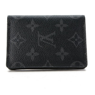 Louis Vuitton Pocket Organizer Wallet in Monogram Eclipse Canvas