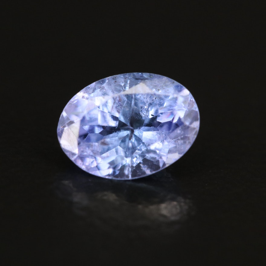 Loose 1.26 CT Oval Faceted Tanzanite