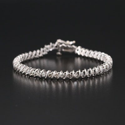 14K 1.50 CTW Diamond S-Link Bracelet