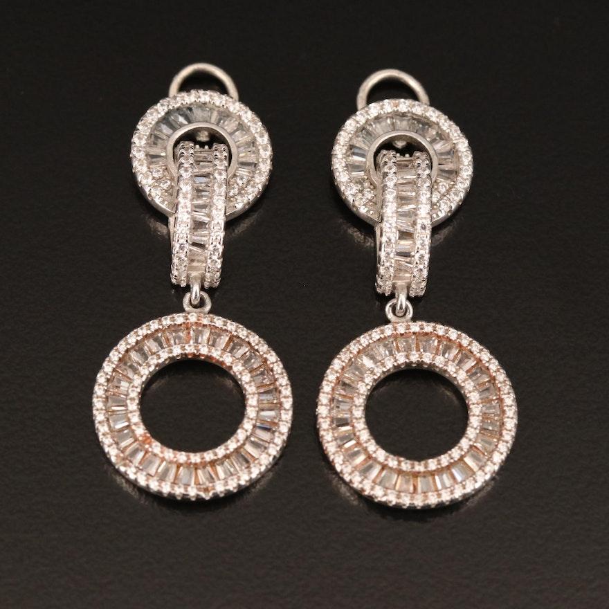 Sterling Cubic Zirconia Earring Enhancers
