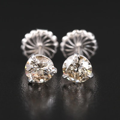 14K 2.52 CTW Diamond Martini Set Stud Earrings