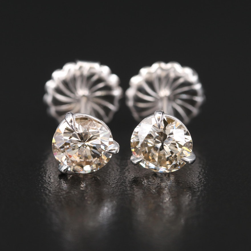14K 2.52 CTW Diamond Martini Set Stud Earrings