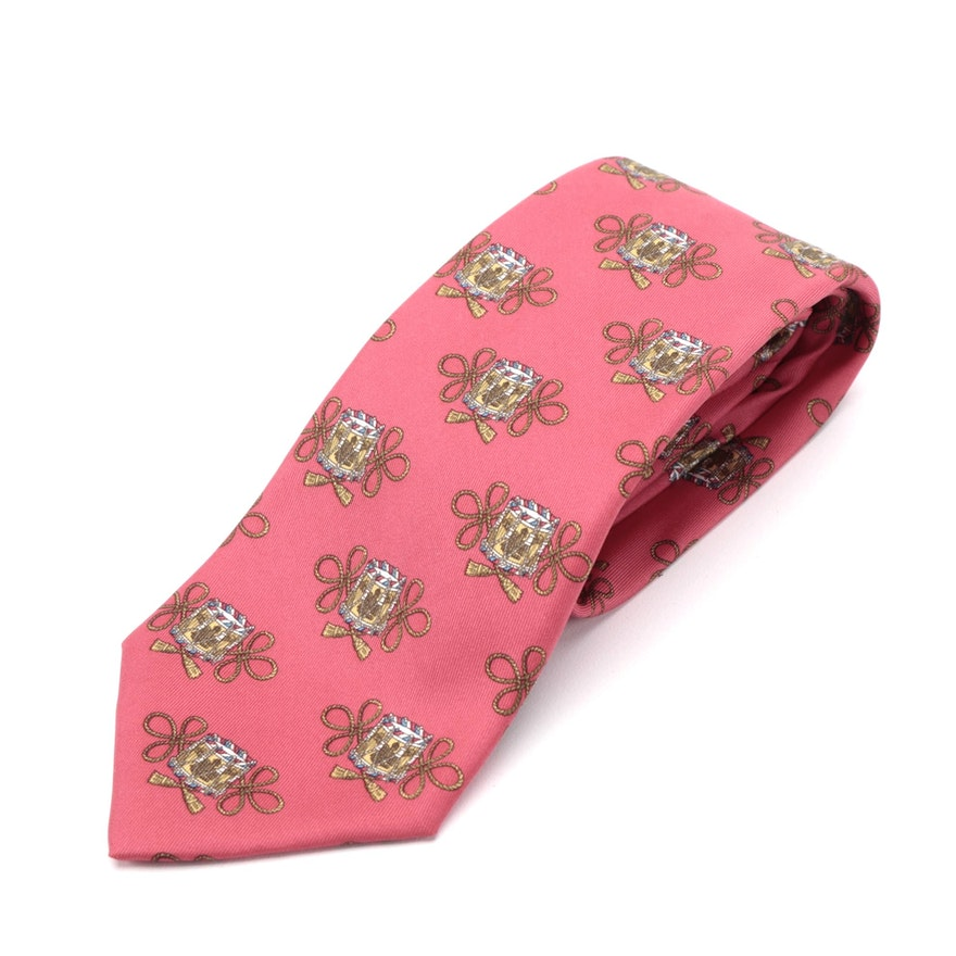 Hermès 7174 FA Hand-Stitched Silk Twill Necktie