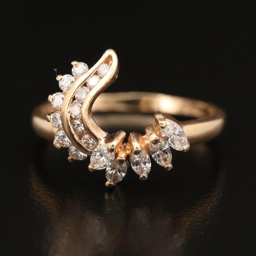 14K Diamond Ring Enhancer