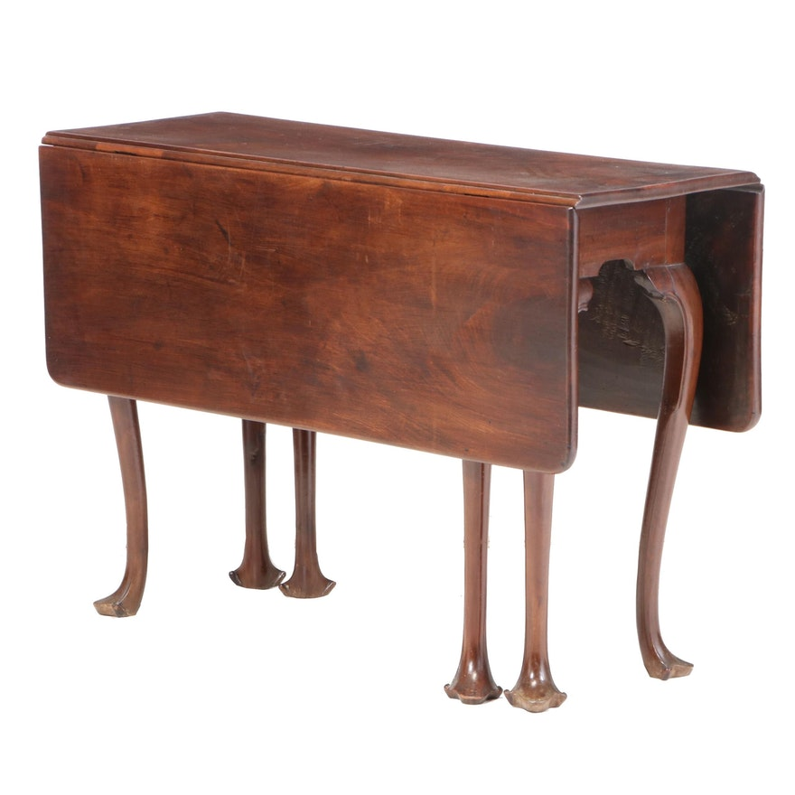 Queen Anne Mahogany Drop-Leaf Table, Mid-18th Century