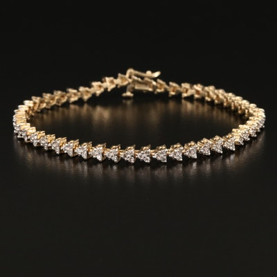 14K 2.52 CTW Diamond Line Bracelet