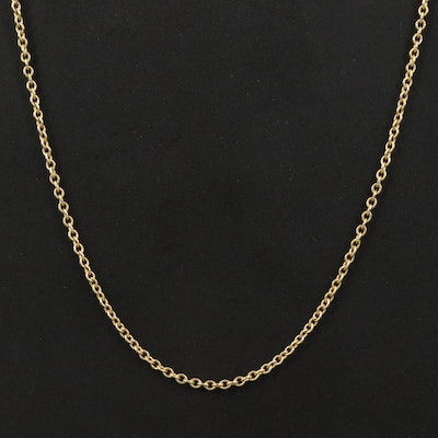 Italian 18K Cable Chain Necklace