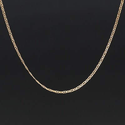 Italian 14K Mariner Chain Necklace