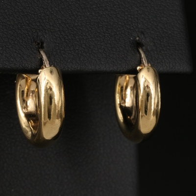 Italian 18K Tubular Hoop Earrings
