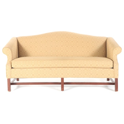 Johnston Benchworks Chippendale Style Camelback Settee, Late 20th Century
