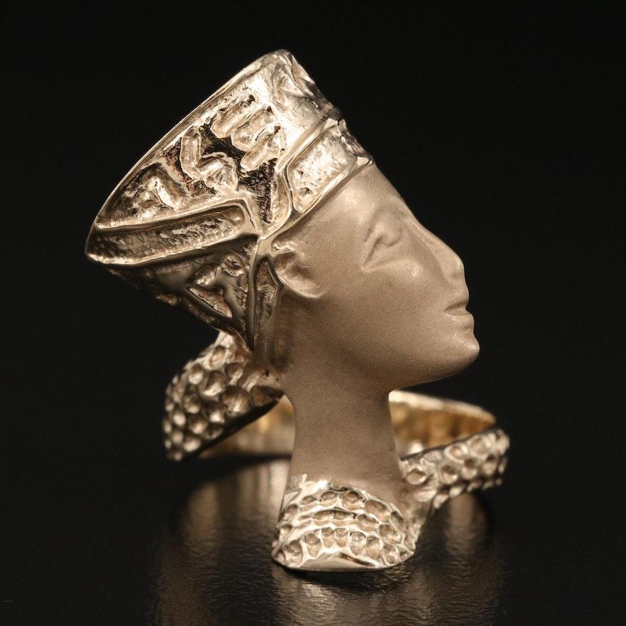 14K Nefertiti Ring