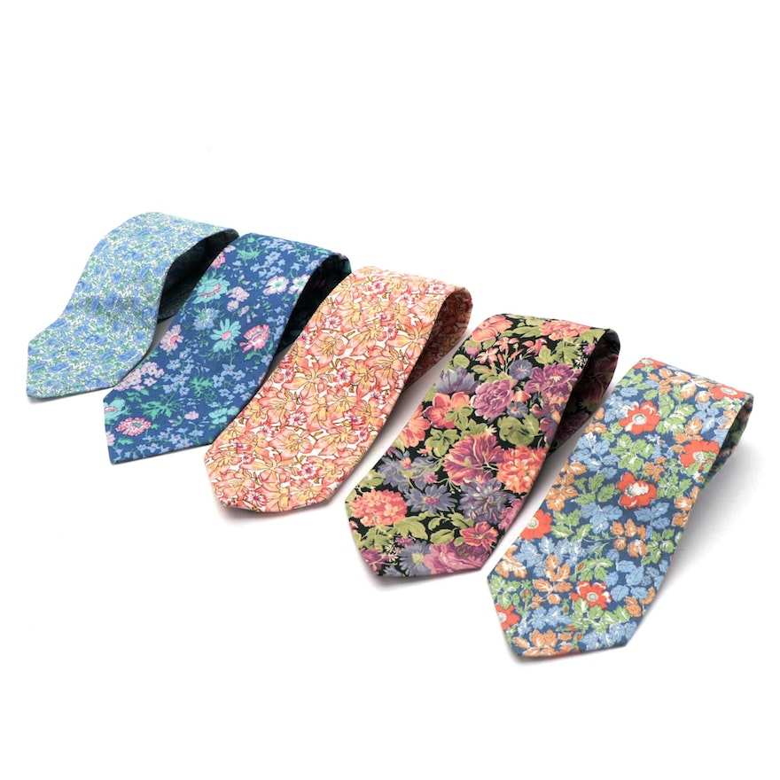 Liberty of London Floral and Archival Printed Cotton Neckties