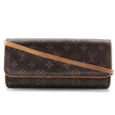 Louis Vuitton Pochette Twin GM Crossbody Bag in Monogram Canvas